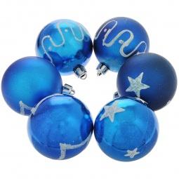 фото Набор новогодних шаров Феникс-Презент 35534 «Ассорти со звездами»