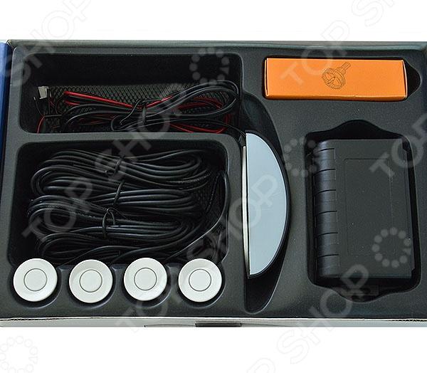 Товар продается в ассортименте. Цвет датчиков при комплектации заказа зависит от наличия товарного ассортимента на складе. Парктроник Erisson CP-W47 приспособление для каждого начинающего автолюбителя. Поможет в параллельной парковке, а также парковке с ограниченной зоной видимости. Оснащена беспроводным управлением и оборудована четырьмя датчиками, которые посылают сигнал на светодиодный дисплей.