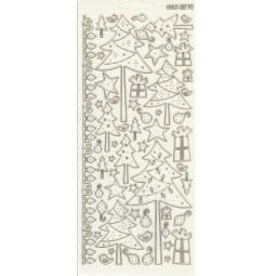 Купить Контурные наклейки JEJE «Новогодние елки с точками»