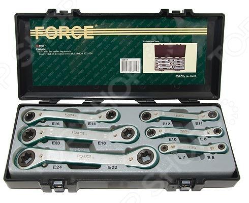 Набор ключей трещоточных Force F-50617 набор инструмента force f 41082