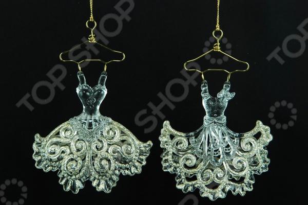 Елочное украшение Crystal Deco «Платье». В ассортименте