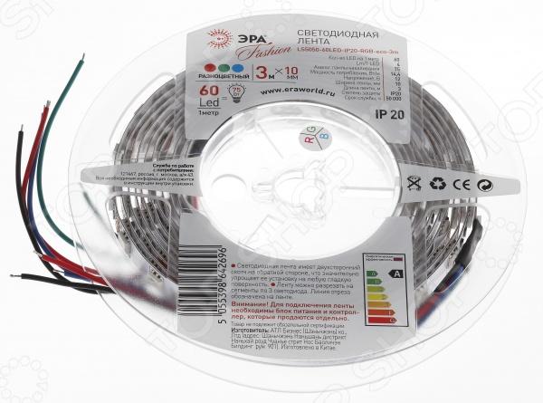 Лента светодиодная Эра LS5050-60LED-IP20-RGB-eco-3m липкая лента bondage tape