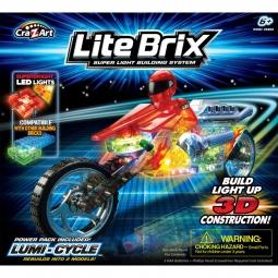 фото Конструктор игровой со световыми эффектами Lite Brix «Мотоцикл» 35802
