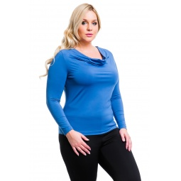 фото Кофта Mondigo XL 1464. Цвет: джинсовый. Размер одежды: 48