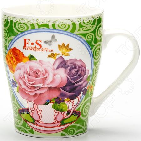 Кружка Loraine LR-24448 «Цветы»