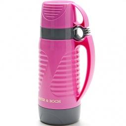 фото Термос и 2 чашки Mayer&Boch Wavy. Объем: 1 л. Цвет: розовый