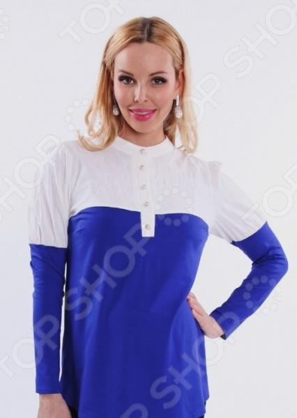 Кофта для беременных Nuova Vita 1397.02. Цвет: синий, кремовый кофта для беременных nuova vita 1313 08 цвет бирюзовый