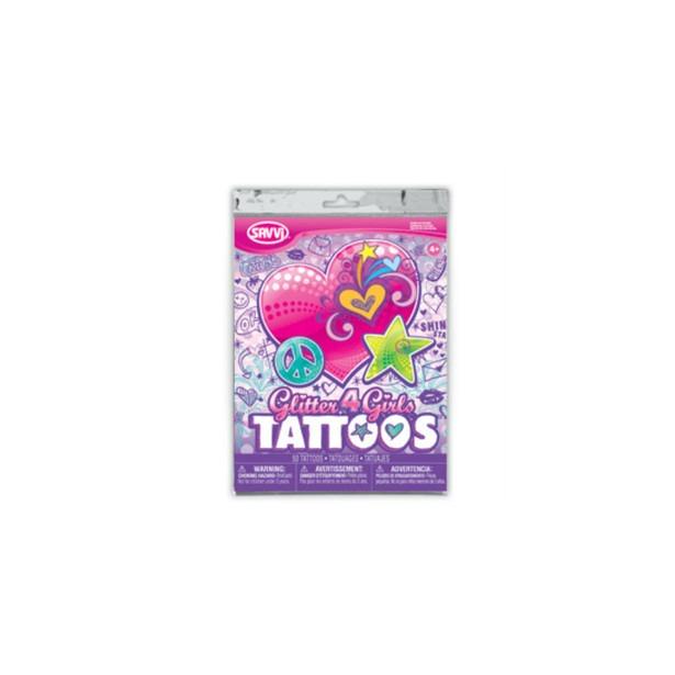 фото Татуировки временные Savvi для девочек. В ассортименте