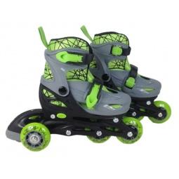 фото Роликовые коньки детские Moby Kids 2в1. Цвет: зеленый