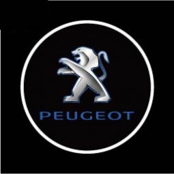 фото Светодиодные проекторы логотипа автомобиля Ghost shadow light Peugeot