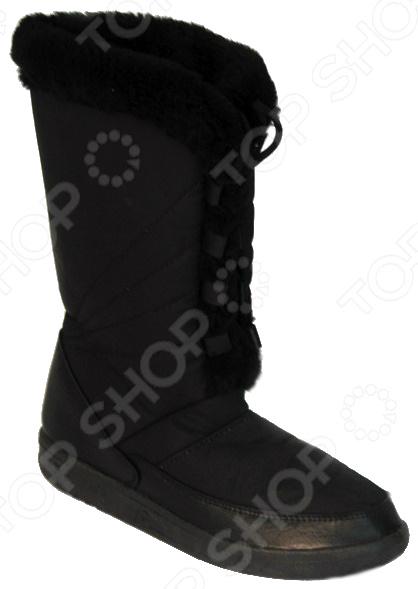 Сапоги утепленные «Лира»Сапоги<br>Сапоги утепленные Лира идеальный выбор для осенне-зимнего сезона, ведь они такие теплые и удобные. Эта модель порадует даже тех, кто испытывает трудности при выборе удобной обуви для проблемных ног. Прочная упругая нескользящая подошва, изготовленная по технологии литьевого крепления, способствует уменьшению нагрузки на стопу.  Их очень легко мыть, быстро высыхают.  Поверхность обуви не трескается, не теряет цвета, не впитывает грязь, устойчива к влаге.  Удобная шнуровка позволяет регулировать полноту ноги. Сапоги изготовлены из синтетического материала, внутри использован искусственный мех. Мягкая стелька сделана из натурального войлока.<br>