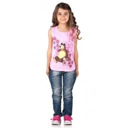 Купить Футболка для девочки «Маша и Медведь. А вот и малина!». Цвет: розовый