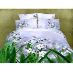 фото Комплект постельного белья Domomania Lugovie Sveti. Satin Fotoprint. 2-спальный
