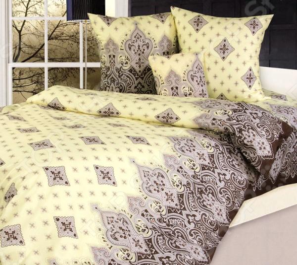 Комплект постельного белья Белиссимо «Садко». 2-спальный2-спальные<br>Комплект постельного белья Белиссимо Садко это незаменимый элемент вашей спальни. Человек треть своей жизни проводит в постели, и от ощущений, которые вы испытываете при прикосновении к простыням или наволочкам, многое зависит. Чтобы сон всегда был комфортным, а пробуждение приятным, мы предлагаем вам этот комплект постельного белья. Приятный цвет и высокое качество комплекта гарантирует, что атмосфера вашей спальни наполнится теплотой и уютом, а вы испытаете множество сладких мгновений спокойного сна. Комплект сшит из бязи. У такой ткани есть ряд преимуществ:  плотная ткань гарантирует длительный срок службы;  приятна на ощупь;  не деформируется и не теряет цвет даже после многочисленных стирок;  белье гигиенично, не вызывает аллергических реакций.<br>