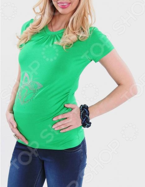 Футболка для беременных Nuova Vita 1215.07. Цвет: салатовый