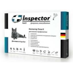 Купить Капли для кошки от внешних и внутренних паразитов Inspector I206