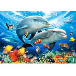 Купить Пазл 1500 элементов Castorland «Дельфины»
