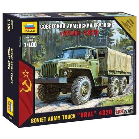 Купить Сборная модель армейского грузовика Звезда «Урал 4320»
