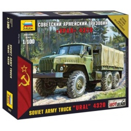 фото Сборная модель армейского грузовика Звезда «Урал 4320»