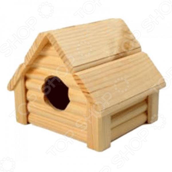 Домик для мелких грызунов Red Plastic «Изба» домик для грызунов