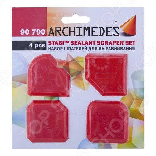 Набор шпателей для выравнивания Archimedes Stabi, 4 шт. ключ универсальный для ушм archimedes stabi 91400