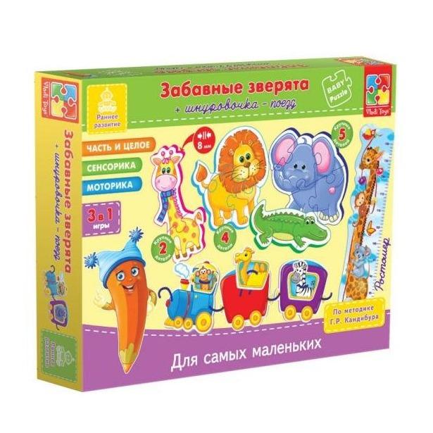 фото Игра развивающая для малыша Vladi Toys «Шнуровка. Зверята»