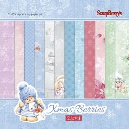 фото Набор бумаги для скрапбукинга ScrapBerry's «Зимняя ягодка»