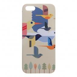 фото Чехол для iPhone 5 Mitya Veselkov «Птицы». Цвет: желтый