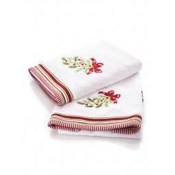 фото Комплект полотенец подарочный TAC Wintery. Цвет: белый