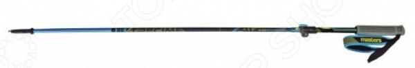 Палки трекинговые телескопические Masters Trecime 01S0316Палки треккинговые и для скандинавской ходьбы<br>Палки трекинговые телескопические Masters Trecime 01S0316 отличные палки для длинных и коротких пеших путешествий. Благодаря таким палкам можно существенно облегчить свое передвижение и снять часть нагрузки со спины, перенеся ее на руки. При изготовлении используется легкий, упругий и прочный алюминиевый сплав. Очень удобная, ручка эргономичной формы облегчает удержание, а шип, выполненный из прочного износостойкого металла, легко и надежно втыкается в почву, не скользит и служит очень прочной точкой опоры.<br>