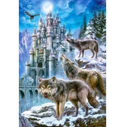 Купить Пазл 1500 элементов Castorland «Волки и замок»