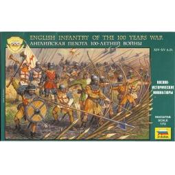 фото Миниатюра Звезда «Английская пехота 100-летней войны»