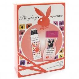 фото Набор женский: дезодорант-спрей и крем для душа Playboy Generation