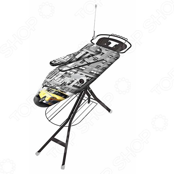 Доска гладильная Colombo New Scal AcquarioГладильные доски<br>Великолепная доска гладильная Colombo New Scal Acquario выполнена в ярком и красивом дизайне, который немного оживит процесс глажки белья. Это практичное и многофункциональное изобретение. Оно позволяет поддерживать внешний вид выходной одежды, проглаживать постельное белье или стерилизовать детскую одежду. Данная модель оборудована электро розеткой и держателем со шнуром, а также специальной подставкой для утюга, позволяющей комфортно манипулировать прибором. Доска являются результатом качественной работы. Изделие соответствует всем нормам безопасности: двойной подворот ткани на углу доски для избежания травм, держатель для шнура и антискользящие накладки на ножках. Высоту можно регулировать. Каркас выполнен из стали с порошковым полимерным напылением, а основу гладильной доски составляет перфорированная сетка, которая великолепно пропускает пар. Чехол выполнен из качественного хлопка с изящным рисунком, который не отпечатывается на одежде. Это изделие поможет вам быстро и удобно справляться даже с большими партиями мятого белья.<br>
