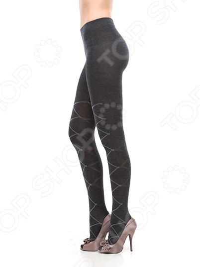 Колготки ажурные Burlesco R52196. Цвет: темно-серый
