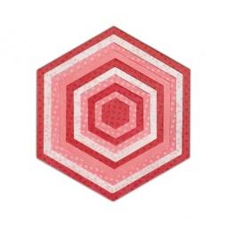 фото Набор форм-трафаретов для вырубки Sizzix Framelits Die Шестиугольники