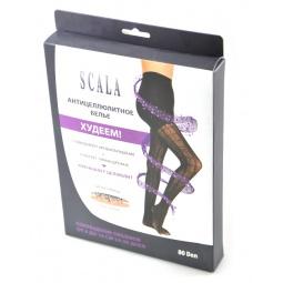 фото Женские антицеллюлитные ажурные колготки с высокой талией Scala «Метаморфозы». Размер: S/M