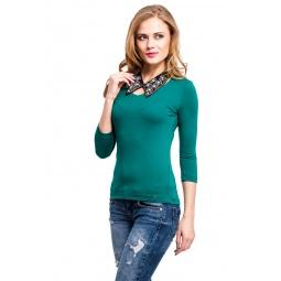фото Кофта Mondigo 052. Цвет: темно-зеленый. Размер одежды: 46