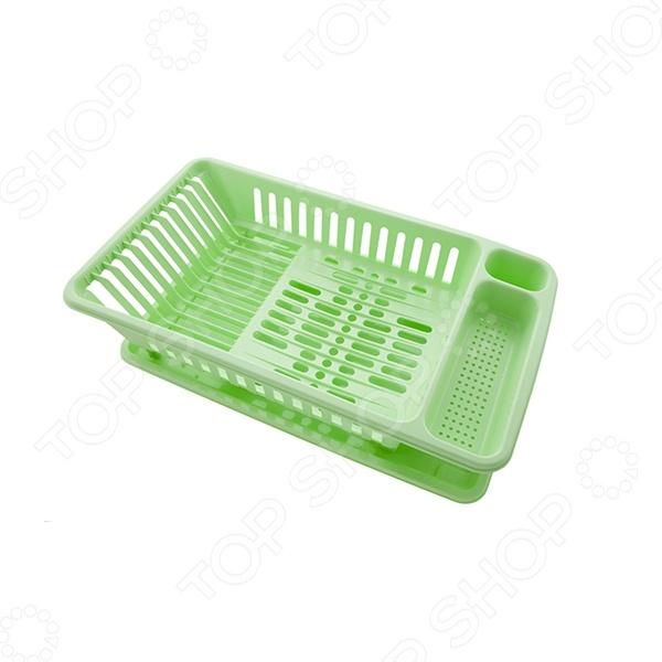 Сушилка для посуды Полимербыт С121. В ассортиментеСушилки для посуды<br>Товар продается в ассортименте. Цвет изделия при комплектации заказа зависит от наличия товарного ассортимента на складе. Сушилка для посуды Полимербыт С121 вместительная сушилка для посуды. Изготовлена из высококачественного пластика, который легко очищается водой и легко сушится. Поперечные разделения позволяют удерживать тарелку в вертикальном положении на ребре, чтобы вода стекала вниз. Нижний поддон имеет ребристую поверхность, которая позволяет тарелкам сушится без соприкосновения с влагой. Вода стекает в проемы, обеспечивая быструю и качественную сушку посуды. Идеальное решения для вашей кухни.<br>