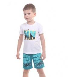 фото Комплект для мальчика: майка и шорты Свитанак 606453. Размер: 30. Рост: 110 см