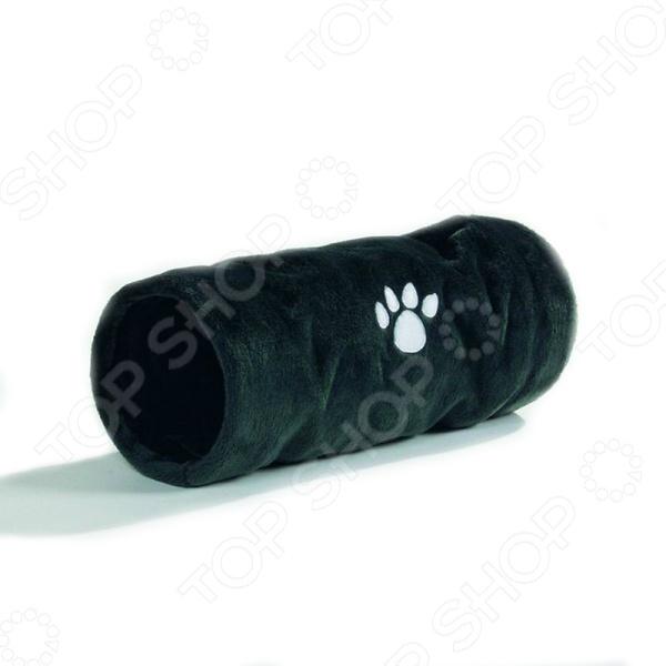 Туннель для кошек Beeztees CrispyДомики. Лежаки. Когтеточки<br>Туннель для кошек Beeztees Crispy станет прекрасным дополнением к аксессуарам для вашего домашнего любимца. Представленная модель предназначена для активного отдыха питомца, что дает возможность ему поддерживать свои мышцы в тонусе даже при условии его содержания в квартире. Плюшевый туннель позволит животному почувствовать себя охотником, реализовать свои инстинкты или спрятаться. Еще большего удовольствия кошке доставят шуршащие звуки. Стильный и оригинальный дизайн изделия станет приятным дополнением к домашнему интерьеру. Размер туннеля составляет 22х60 см.<br>