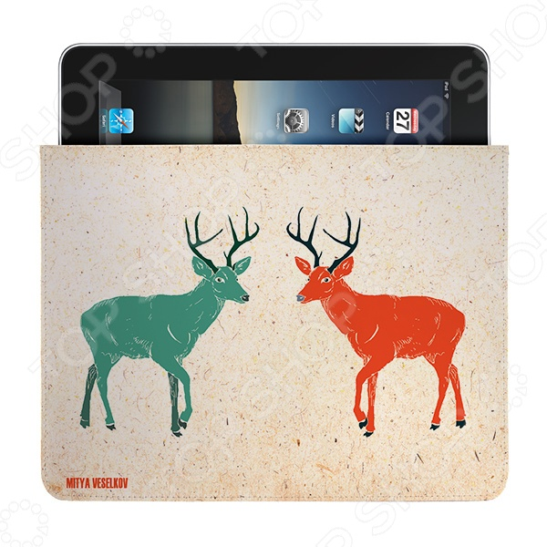 Чехол для iPad Mitya Veselkov «Два оленя» чехлол для ipad iphone mitya veselkov чехол для ipad райский сад ip 08