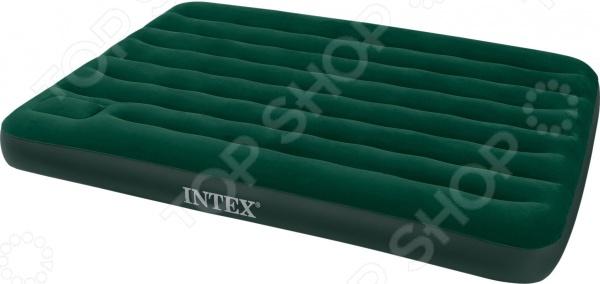 Кровать надувная Intex Downy 66929Надувные матрасы, кресла, кровати<br>Кровать надувная Intex Downy 66929 комфортабельное и удобное в использовании изделие, рассчитанное на двух человек. Кровать с мягким велюровым покрытием, обеспечивающим надежную защиту от механических повреждений, воздействия влаги и предотвращающим скольжение простыни, покрывала и пр. Конструкция изделия оболочкой с перегородками для плавного перетекания воздуха. Кровать данной модели станет отличным дополнением в каждом доме. Ведь часто бывает, что наведываются нежданные гости, а расположиться им негде. В таком случае вам остается лишь достать свернутую кровать, которая в течение нескольких минут превратится в полноценный предмет мебели. Благодаря встроенному электрическому насосу весь процесс накачивания осуществляется легко и просто. Встроенный ножной насос- лягушка обеспечивает легкое и быстрое надувание матраса. Изделие представлено в однотонной темно-зеленой расцветке, поэтому оно идеально впишется в любой интерьер. В сложенном виде кровать занимает совсем немного места, что обеспечивает ее комфортное хранение и транспортировку.<br>