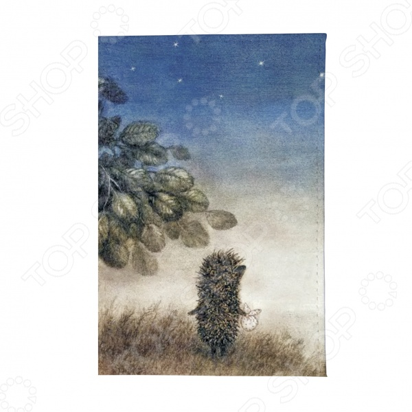 Обложка для автодокументов Mitya Veselkov «Ежик ночью»