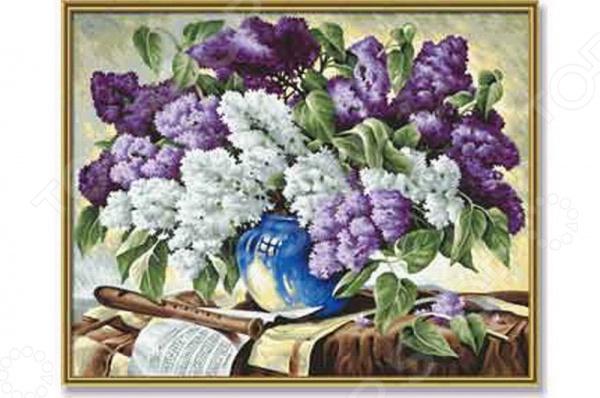 Набор для рисования по номерам Schipper «Сирень в вазе» наборы для рисования цветной картины по номерам букет розовых цветов