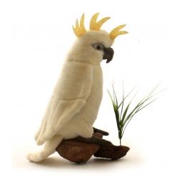 фото Мягкая игрушка для ребенка Hansa «Большой белохохлый какаду»