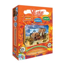 фото Картинка объемная Vizzle Слоны на прогулке