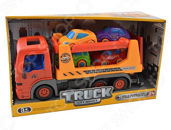 Машинка инерционная Shantou Gepai «Трейлер-автовоз»