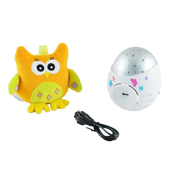 Ночник-проектор для ребенка Roxy-Kids Colibri с совой игрушка проектор roxy kids звездного неба olly с совой
