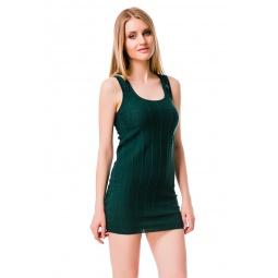фото Туника вязаная Mondigo 9762. Цвет: темно-зеленый. Размер одежды: 44